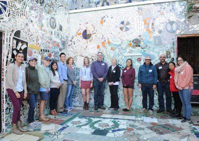 HeART Stories participants at Philadelphia's Magic Gardens with ARTZ Philadelphia
