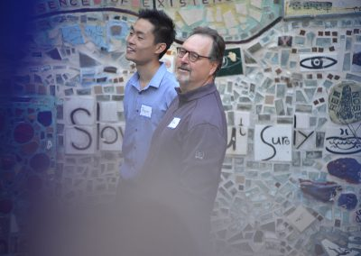 Mike Szkaradnik and Bryce Eng at Philadelphia's Magic Gardens during a session led by ARTZ Philadelphia